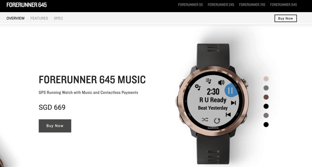 Best Smart Watches Singapore - Garmin Forerunner 645