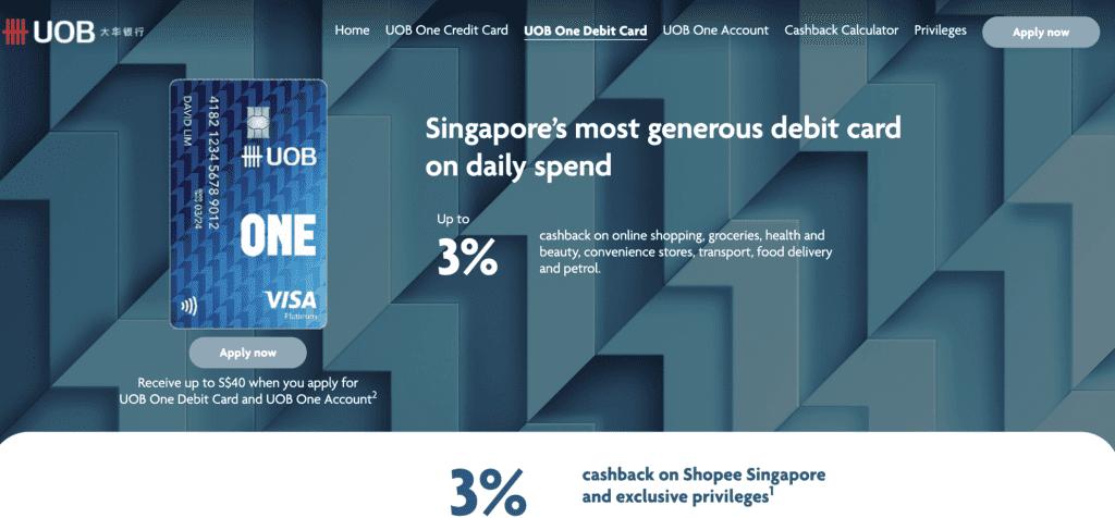 Best Debit Card - UOB One
