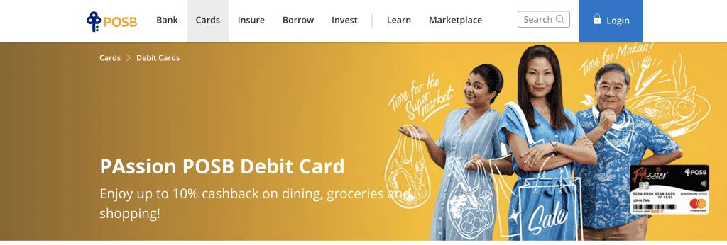 Best Debit Card - PAssion POSB