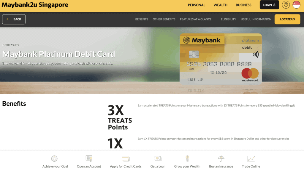 Best Debit Card - Maybank Platinum Card