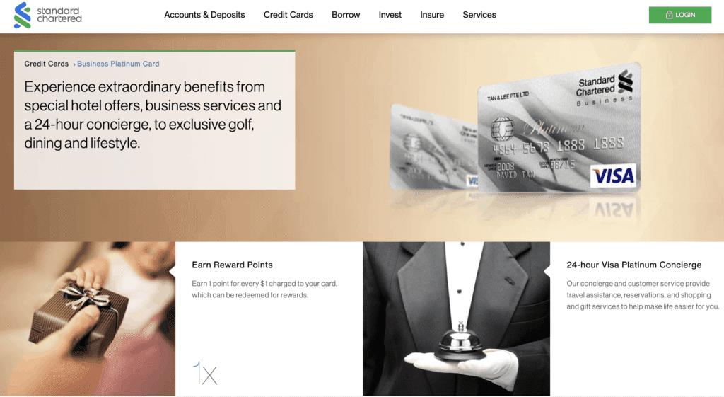 Business Credit Card - Standard Chartered Visa Business Credit Card