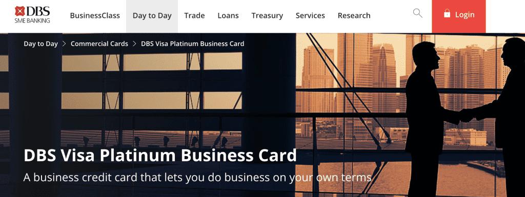 Business Credit Card - DBS Visa Platinum Business Card