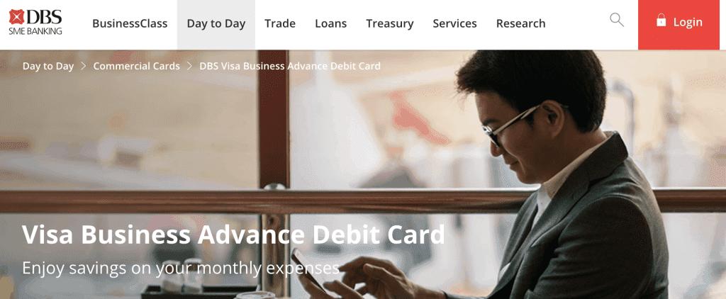 Business Credit Card - DBS Visa Business Advance Debit Card