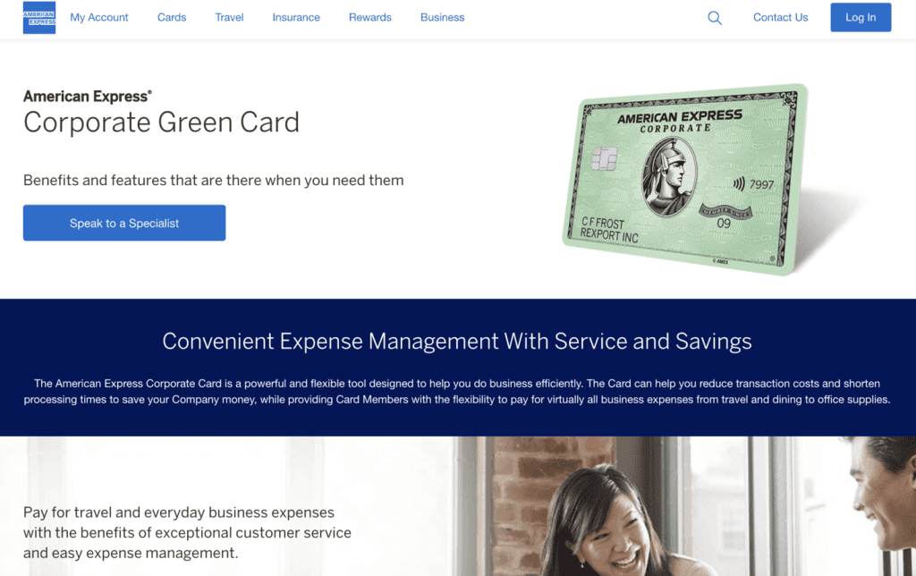 Business Credit Card - AMEX Corporate Grees Card