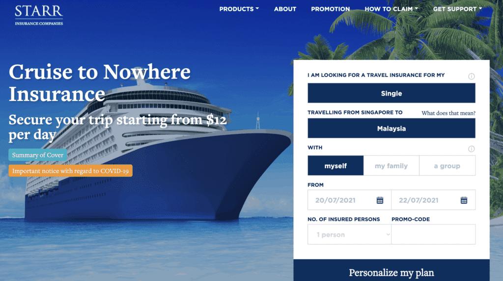 Cruise Insurance Singapore - Starr Insurance