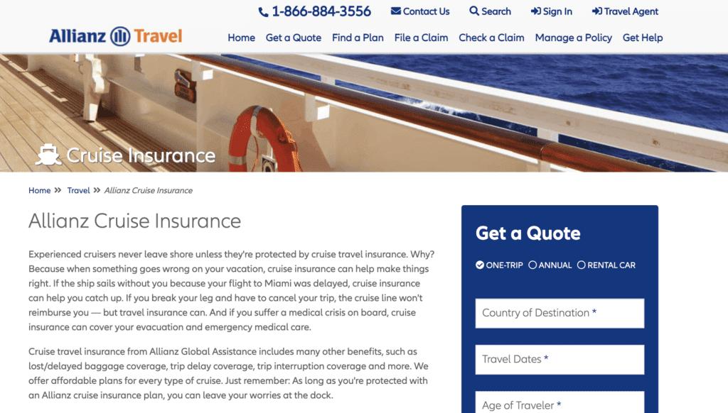 Cruise Insurance Singapore - Allianz Travel Insurance