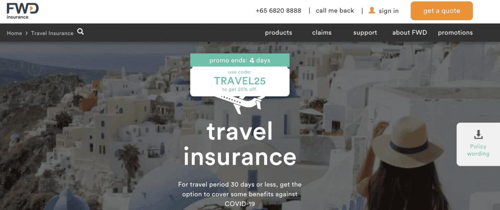 Cruise Insurance Singapore - FWD Travel Insurance