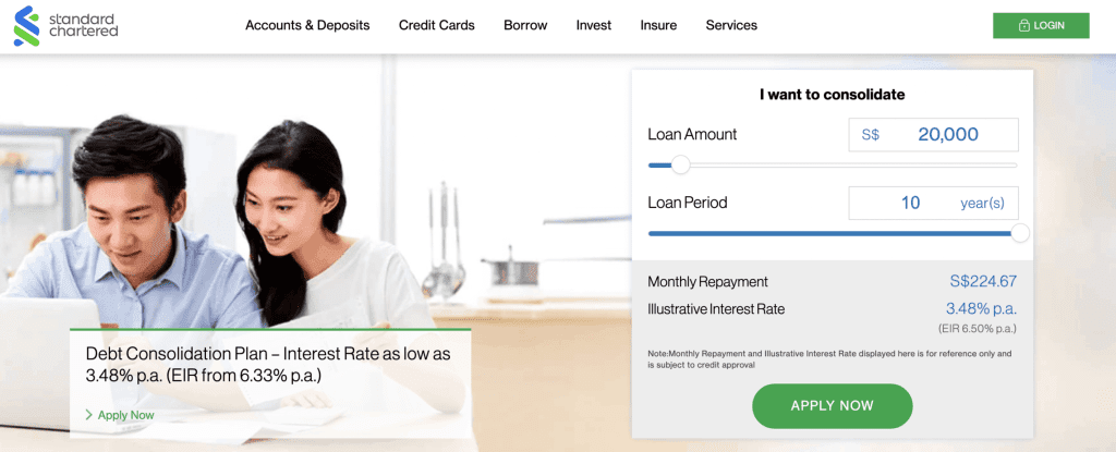Debt consolidation loan Singapore - Standard Chartered Debt Consolidation Plan