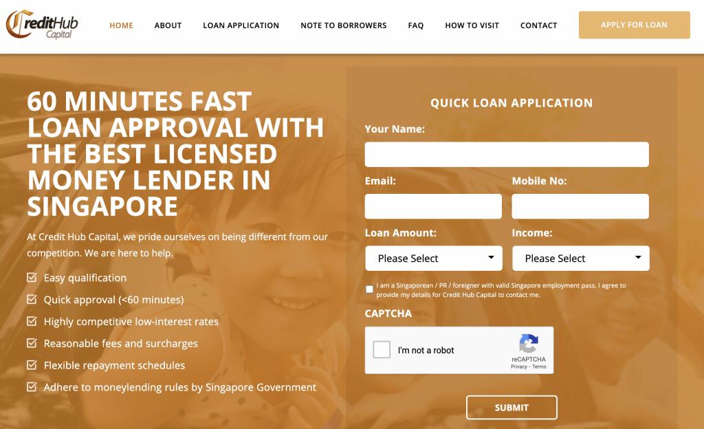 Debt consolidation loan Singapore - Credit Hub Capital