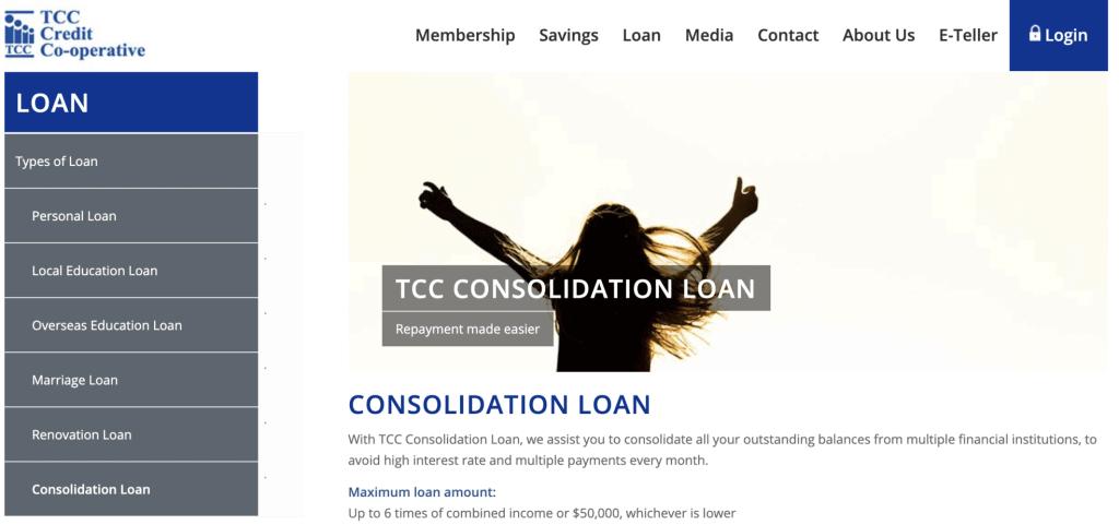 Debt consolidation loan Singapore - TCC Credit