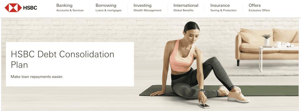 Debt consolidation loan Singapore - HSBC Debt consolidation plan