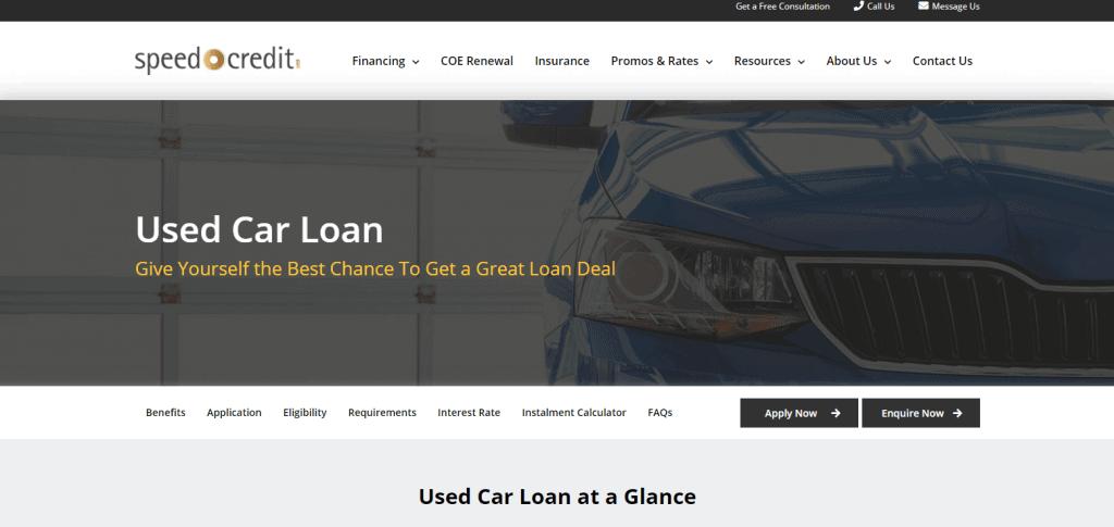 Speed-Credit best car loan in singapore