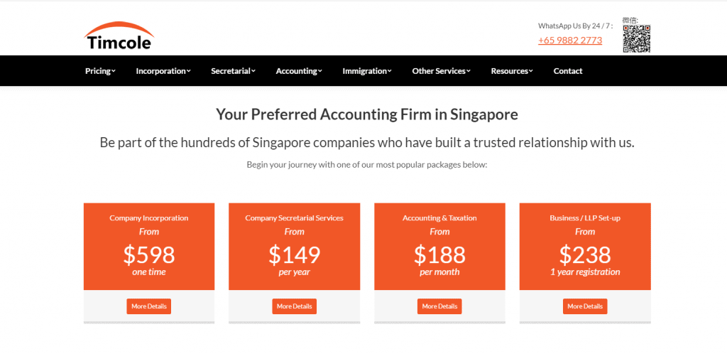 Timcole accounting services in singapore