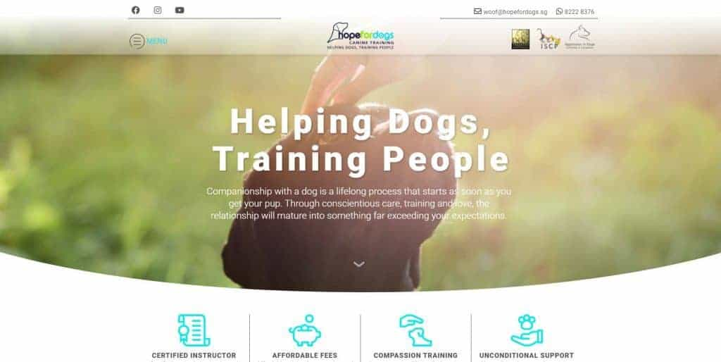 best dog training in singapore_hope for dogs