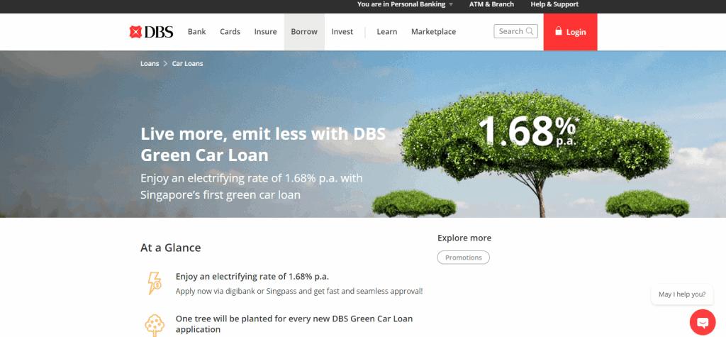 dbs best car loan in singapore