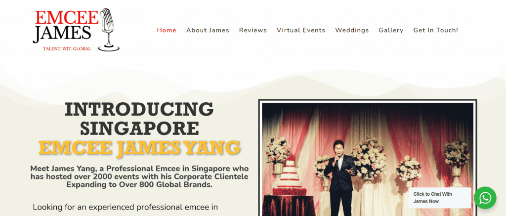 best emcee in singapore to get your products known_james yang
