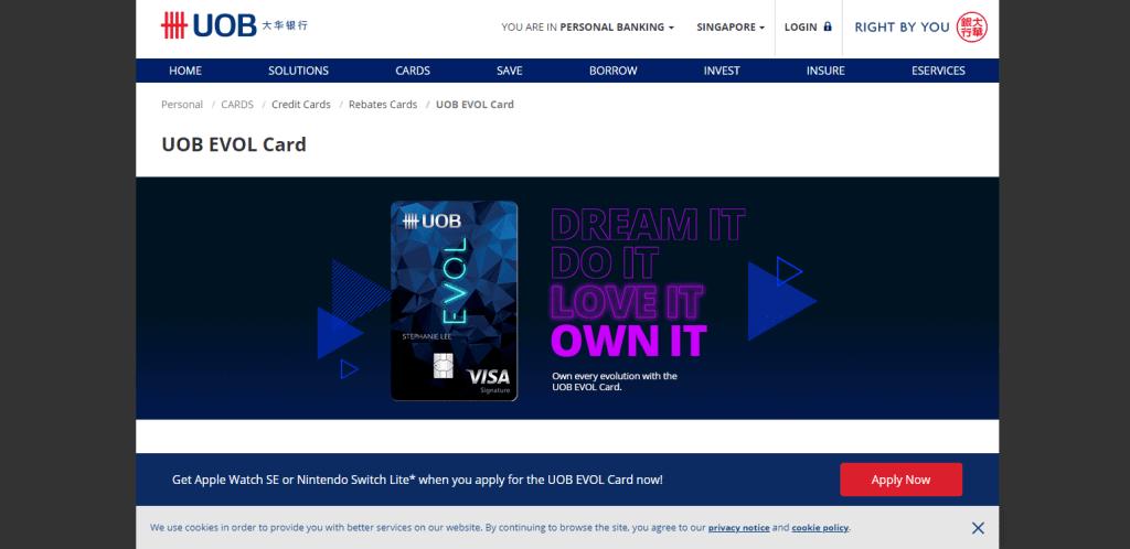 uob-2 best cash back credit card in singapore