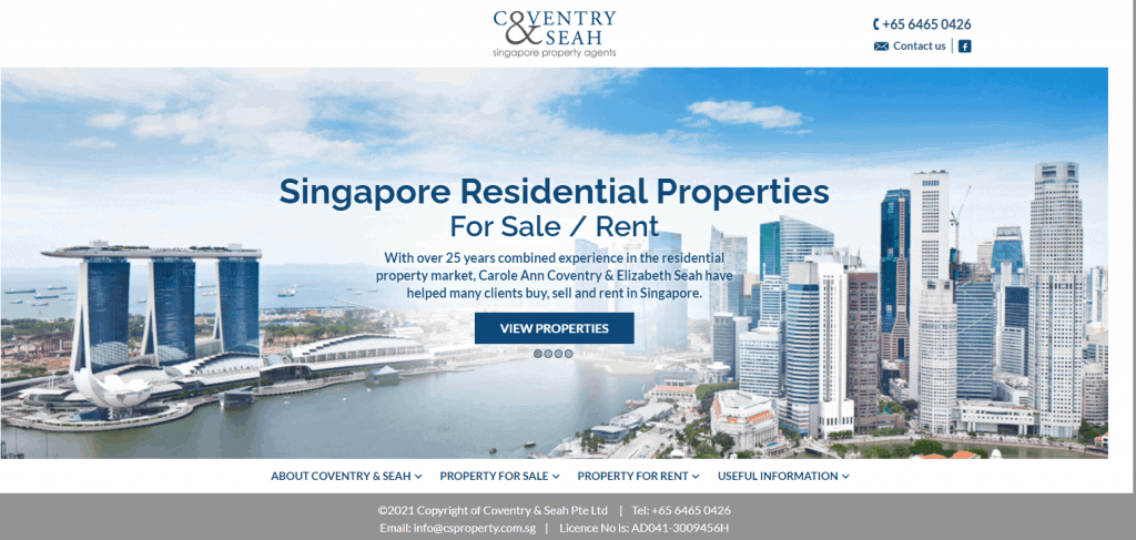 Coventry-Seah property agents in Singapore