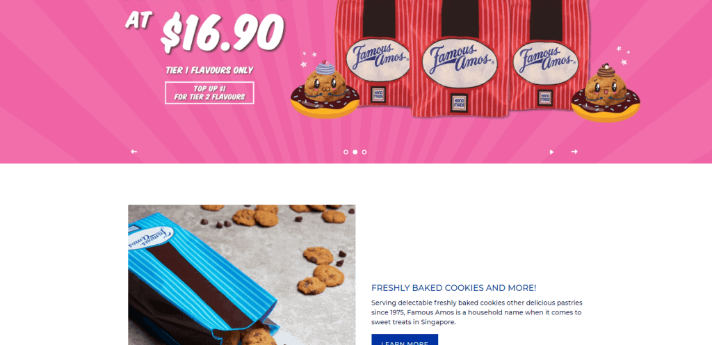 Famous Amos best cookies in singapore