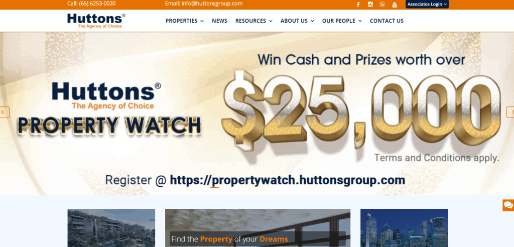 Huttons Asia property agents in Singapore