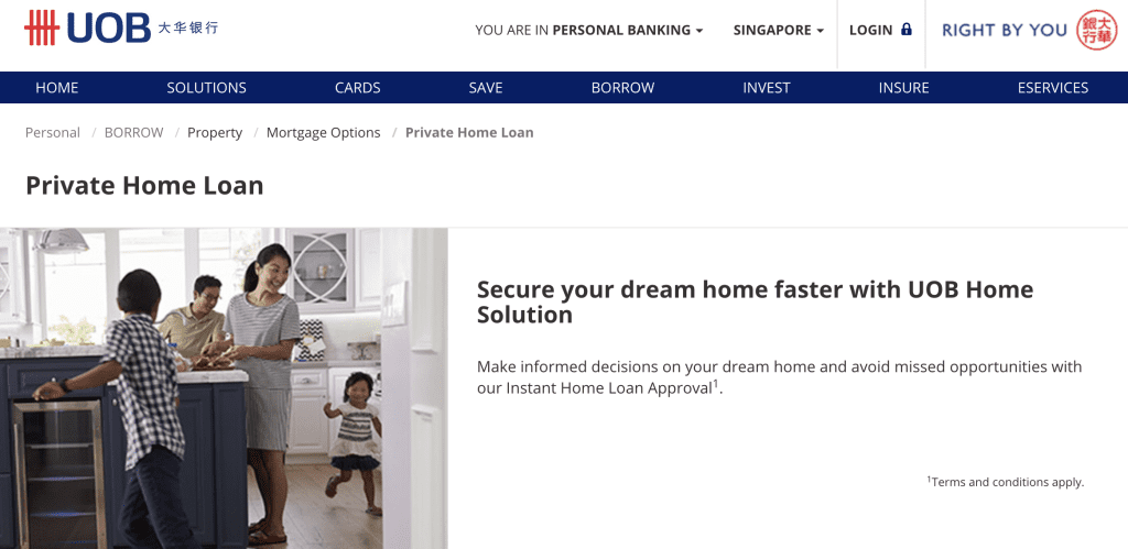 Housing loan in Singapore - UOB Private Home Loan