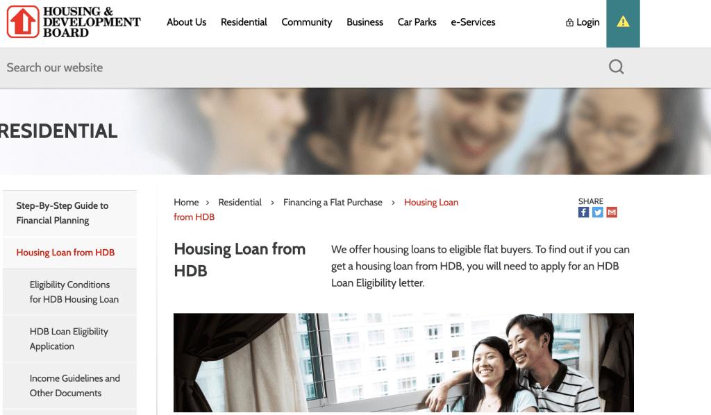 Housing loan in Singapore - HDB Loan
