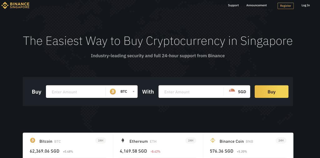 Crypto exchange in Singapore - Binance