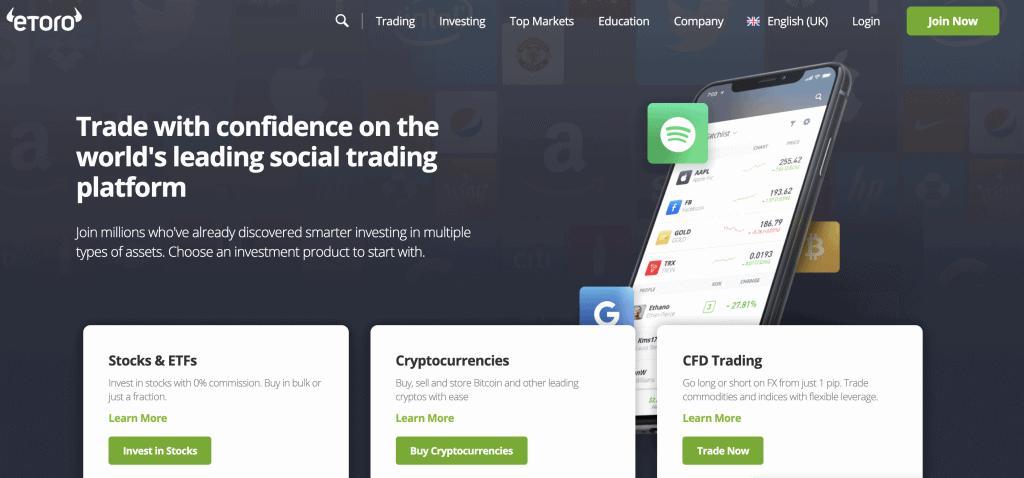 Crypto exchange in Singapore - eToro