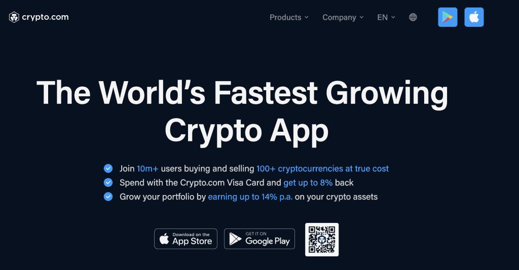 Crypto exchange in Singapore - Crypto.com