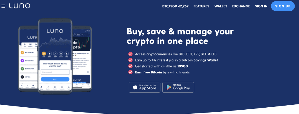 Crypto exchange in Singapore - Luno