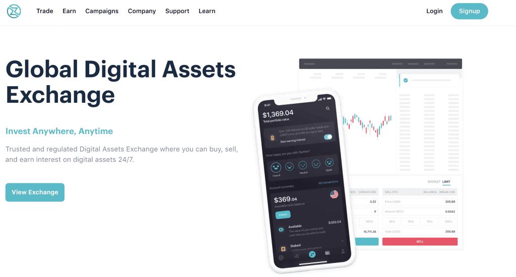 Crypto exchange in Singapore - Zipmex