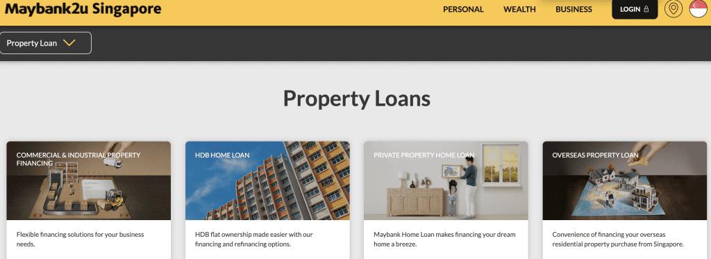Housing loan in Singapore - Maybank Property Loan