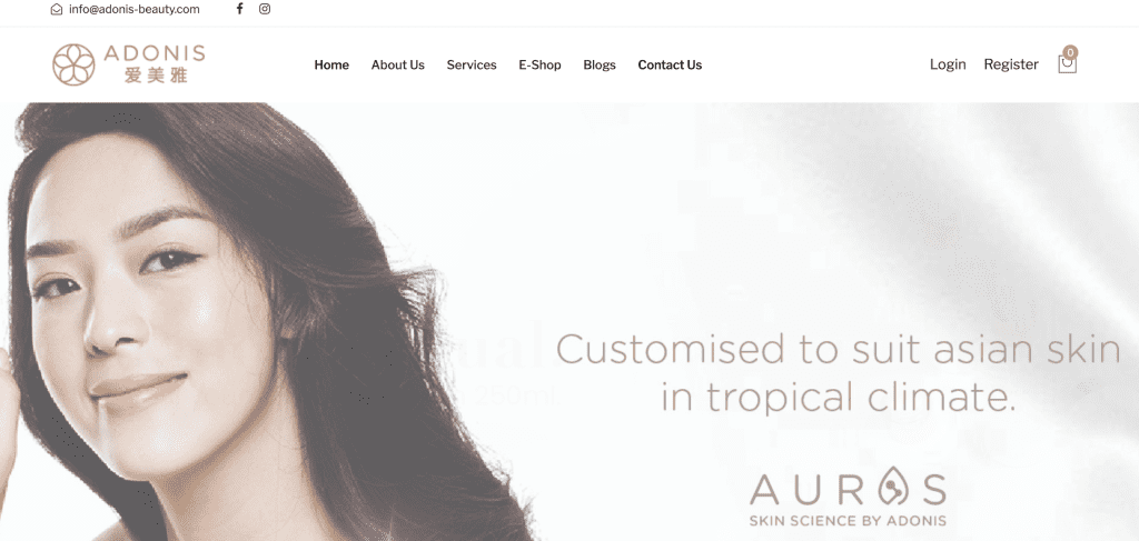 Extraction facial in Singapore - Adonis Beauty