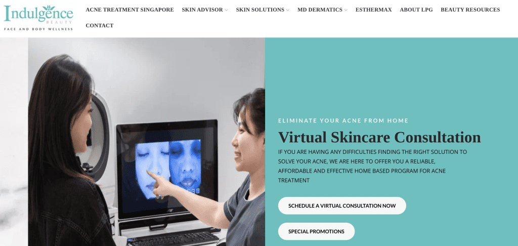 Extraction facial in Singapore - Indulgence Beauty