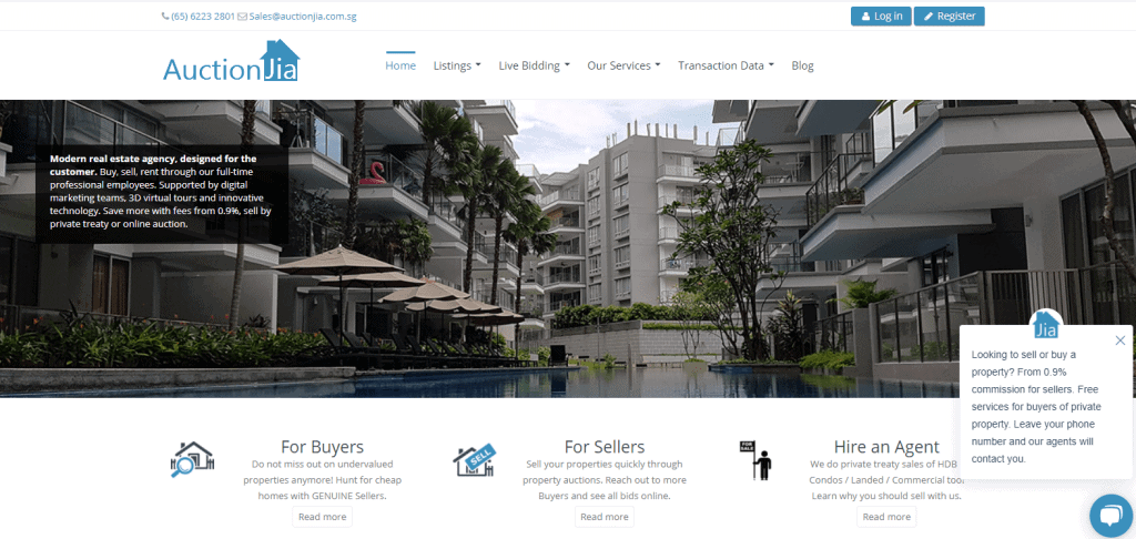 auctionjia property agents in Singapore