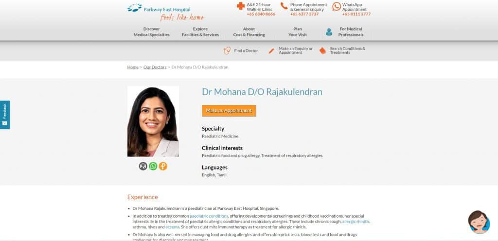 best paediatrician in singapore_parkway east hospital_dr mohana