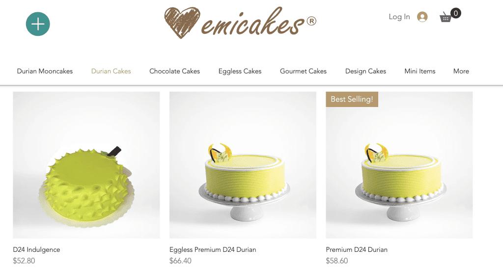 Durian Cake Singapore - Emi Cakes