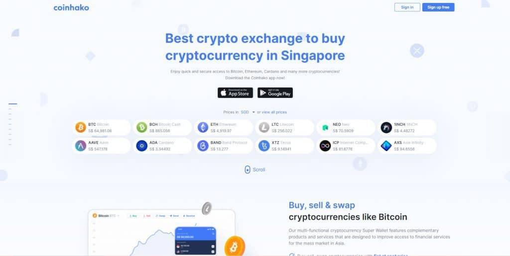 best crypto exchange in singapore_coinhako