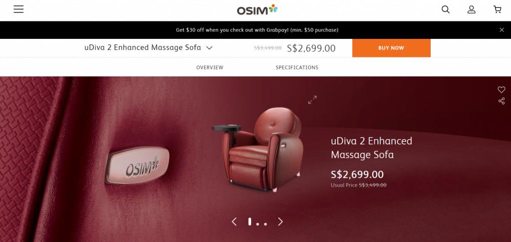 OSIM-uDiva-Massage-Chair-Singapore